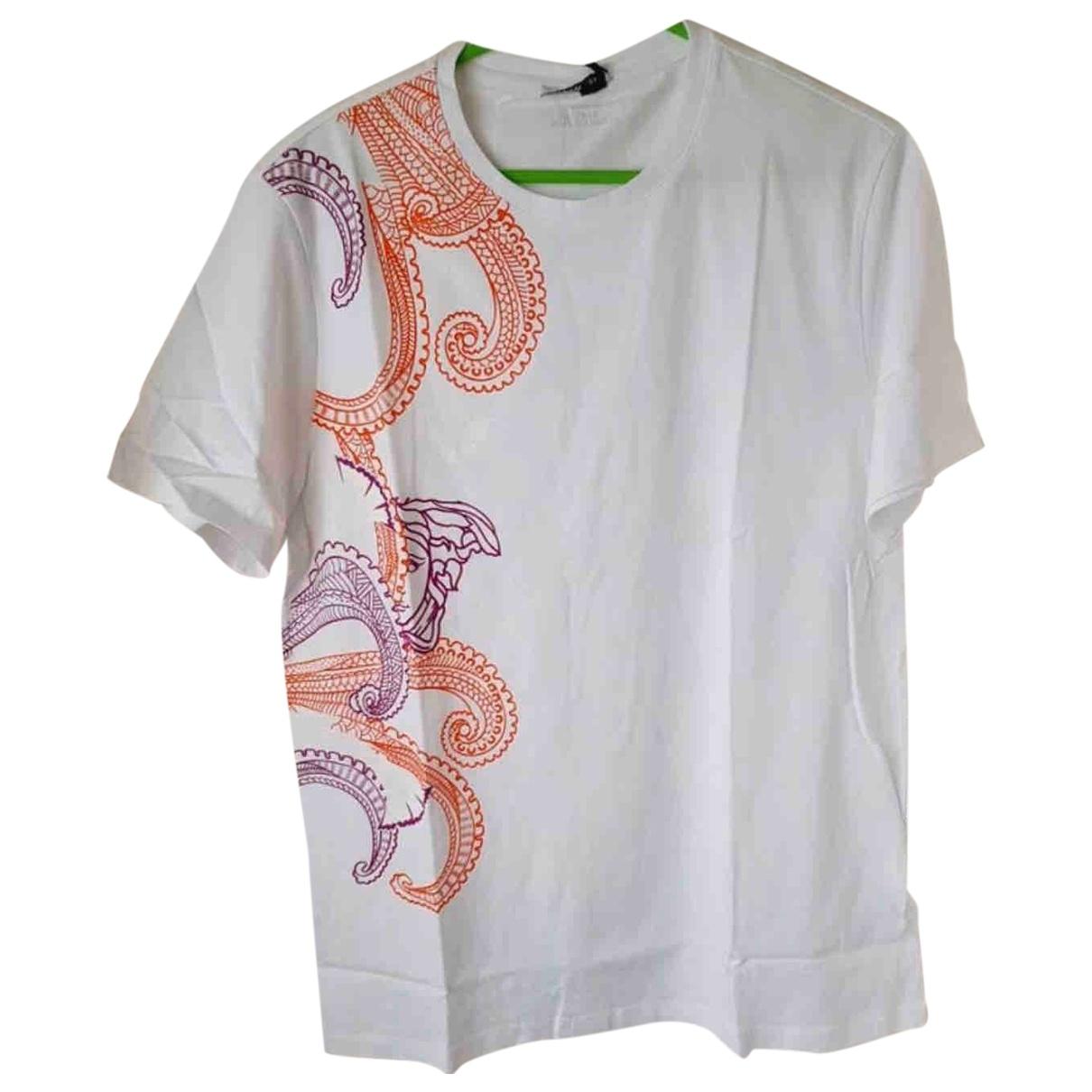 Versace - Tee shirts   pour homme en coton - blanc