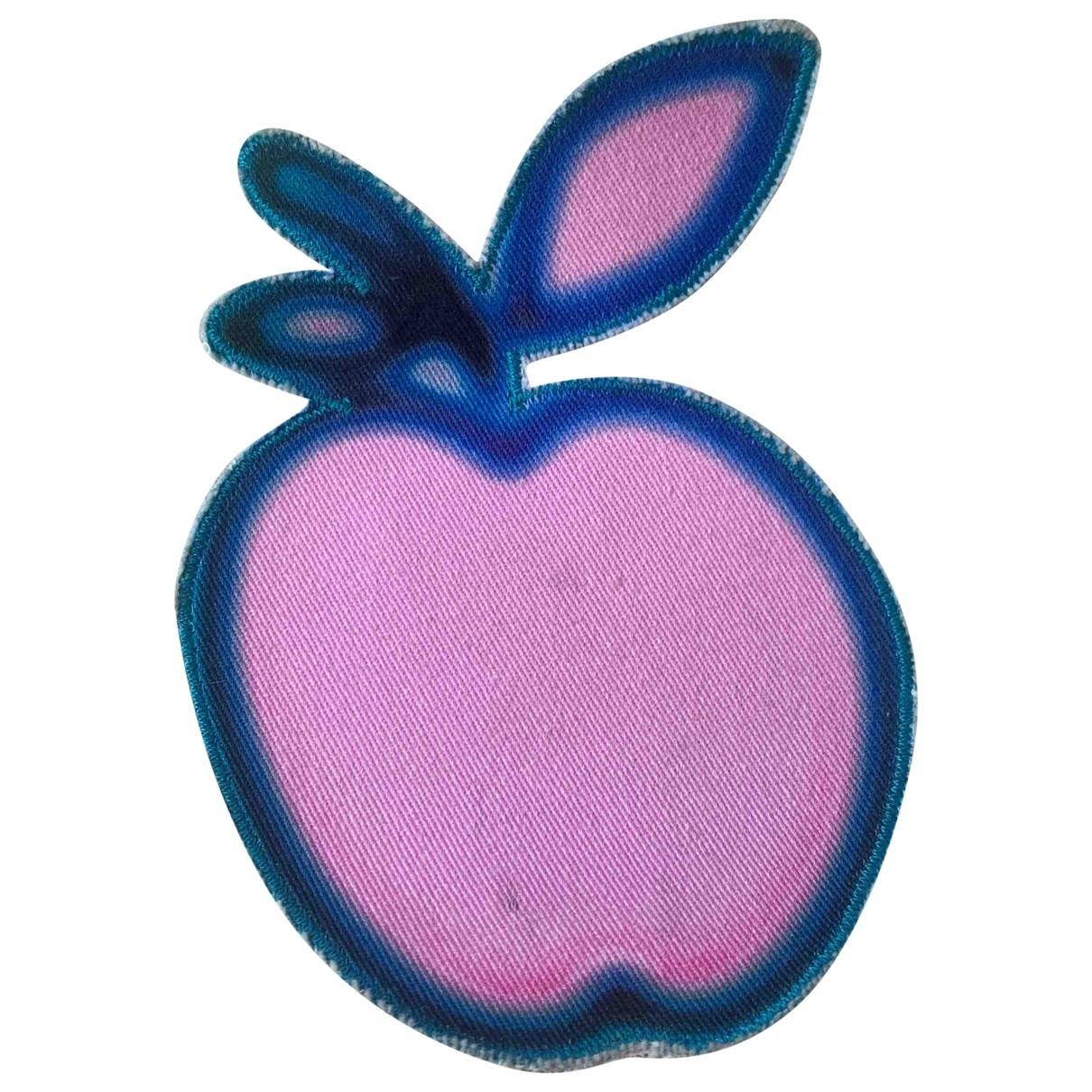 Miu Miu - Broche   pour femme en toile - rose
