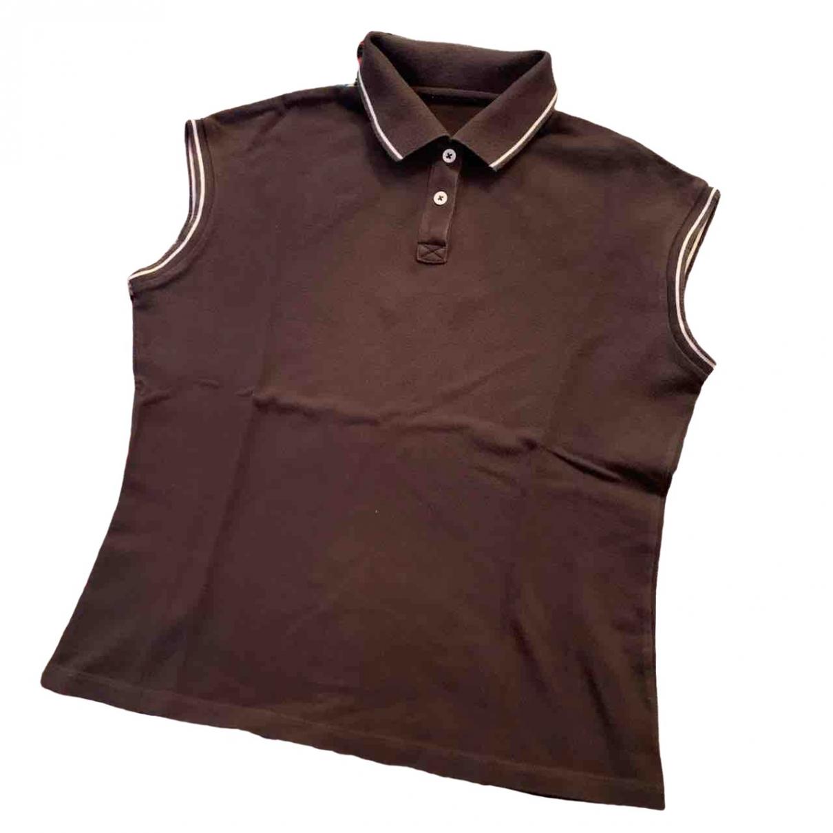 Moncler - Pull   pour femme en coton - marron
