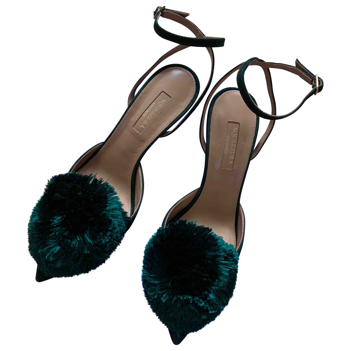 Aquazzura \N Green Suede Sandals for Women 36 EU