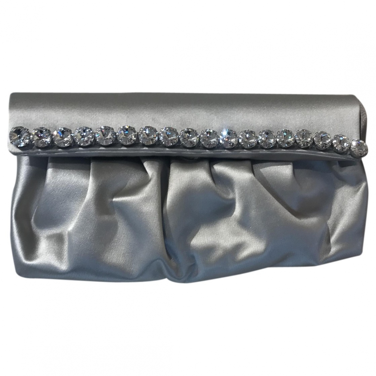 Non Signe / Unsigned \N Clutch in  Grau Seide