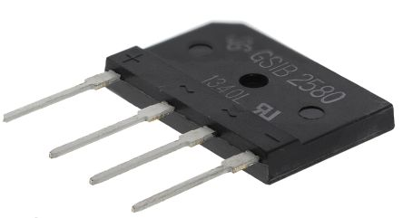 Vishay GSIB2580-E3/45, Bridge Rectifier, 25A 800V, 4-Pin GSIB-5S (2)