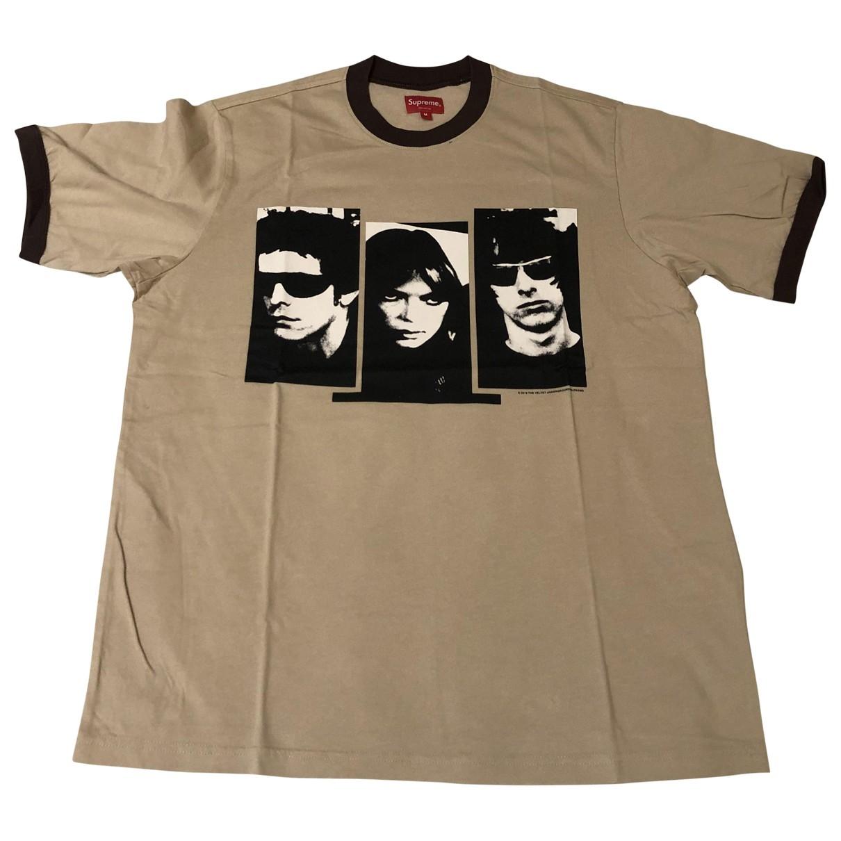 Supreme \N T-Shirts in  Braun Baumwolle