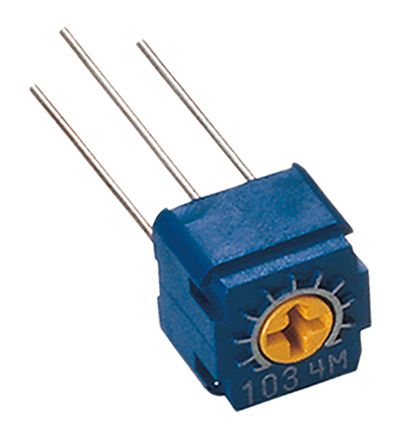 Copal Electronics 2kΩ, Through Hole Trimmer Potentiometer 0.5W Top Adjust , CT6 (5)