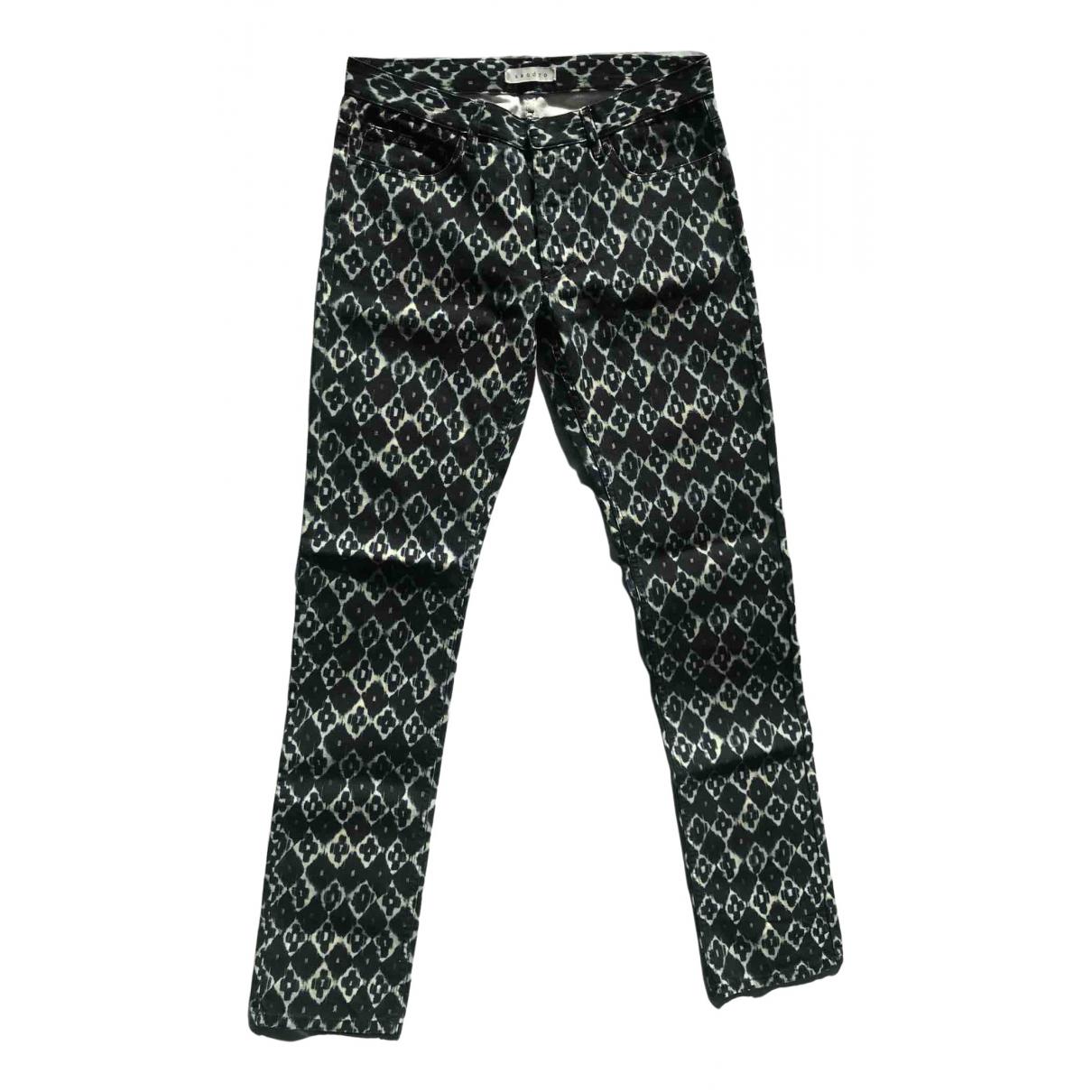 Sandro \N Navy Cotton Jeans for Men 29 US
