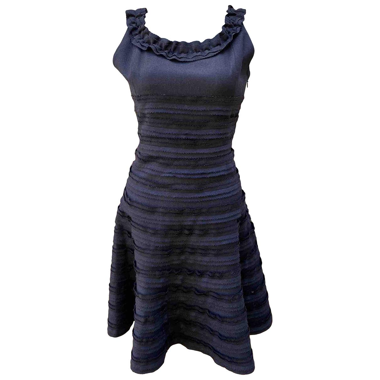 Oscar De La Renta \N Blue Wool dress for Women 6 US