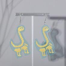 Pendientes con dinosaurio