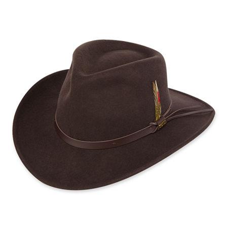 Scala Dakota Wool Felt Outback Hat, Xx-large , Brown