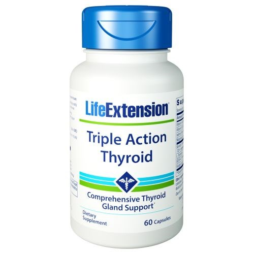 Triple Action Thyroid 60 Caps by Life Extension