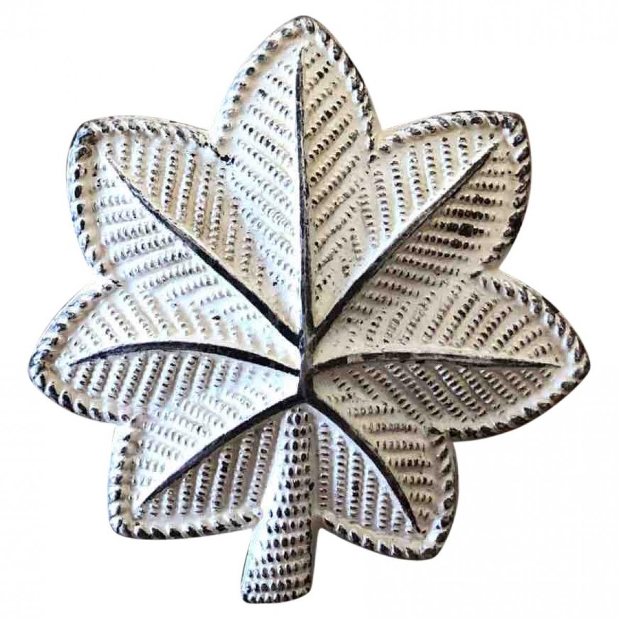 - Broche Motifs Floraux pour femme en argent - blanc