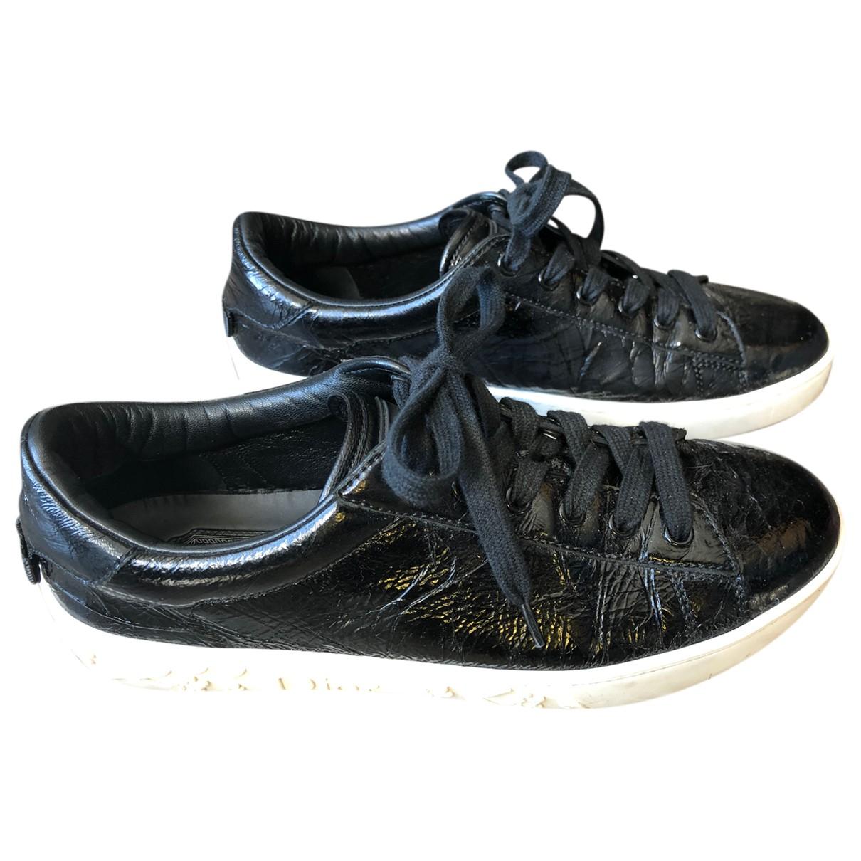 Dior \N Sneakers in  Schwarz Lackleder