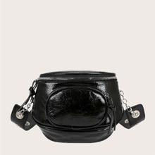 Knot Decor Minimalist Crossbody Bag
