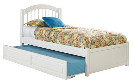 Windsor Collection AP9432012 Full Size Platform Bed with Flat Panel Footboard  Twin Size Raised Panel Trundle  Casters and Eco-Friendly Solid