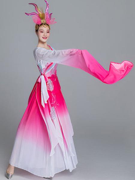Milanoo Disfraz Halloween Trajes tradicionales chinos Vestido de gasa asiatica Disfraces de carnaval agradables Carnaval Halloween