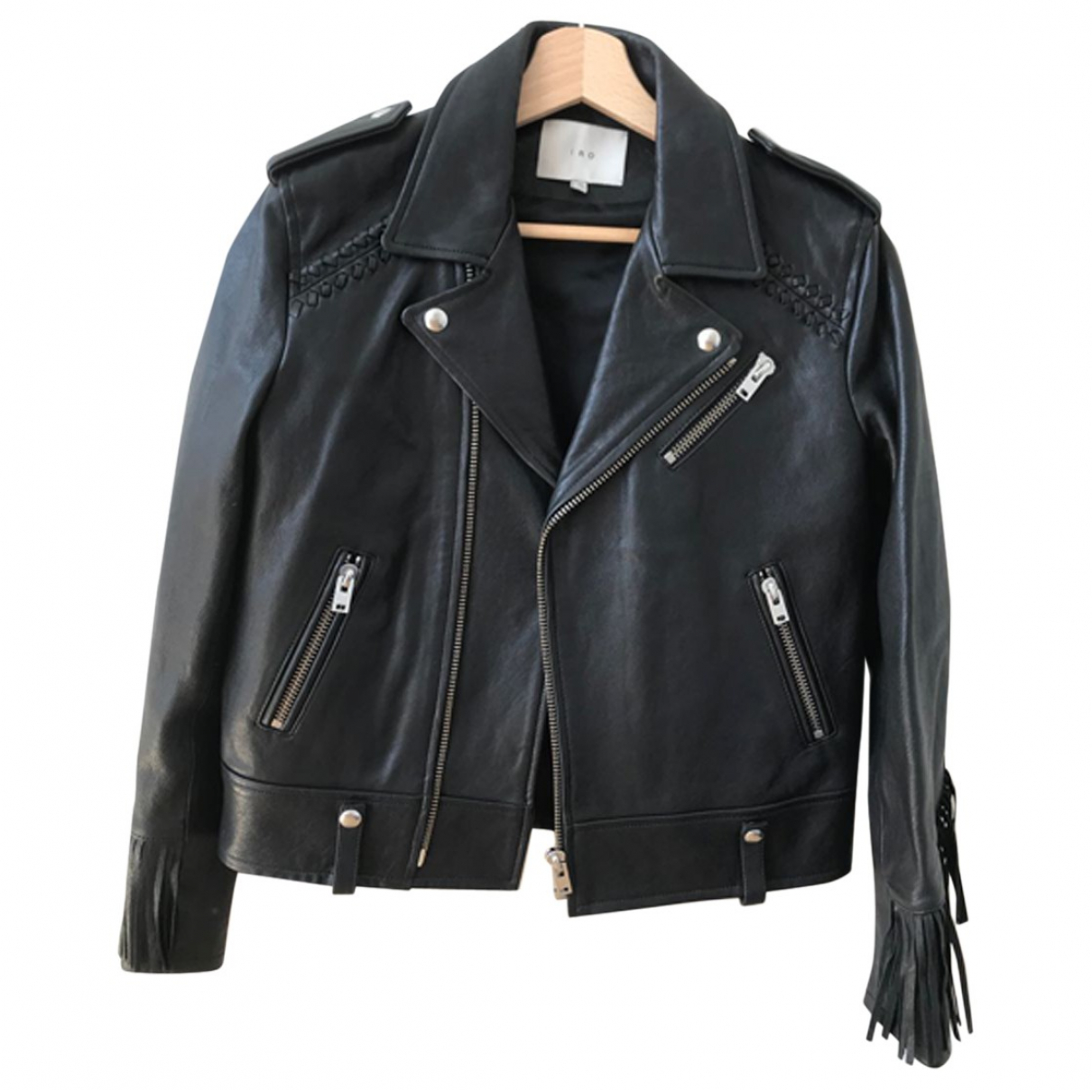 Iro \N Black Leather jacket for Women 40 FR