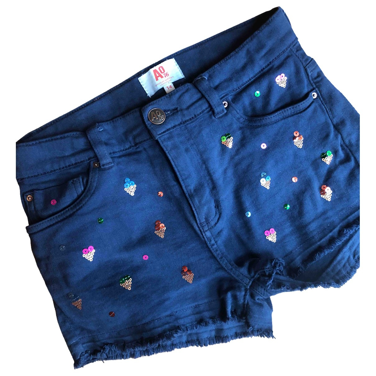 American Outfitters \N Blue Cotton Shorts for Kids 14 years - S FR