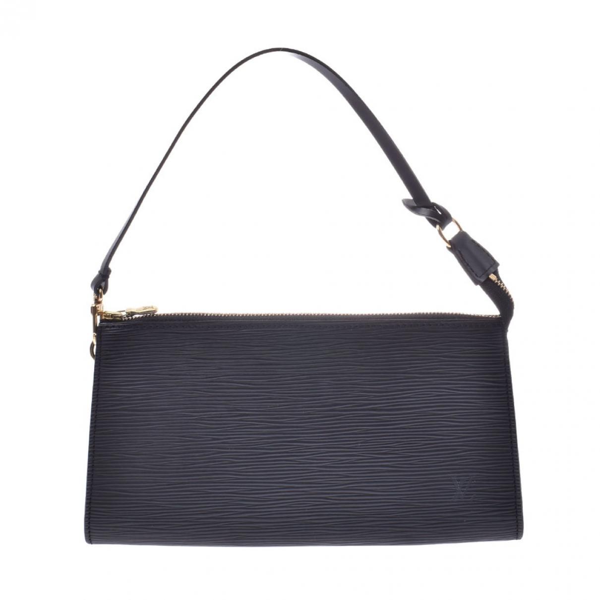 Louis Vuitton - Pochette Lexington pour femme en cuir - noir