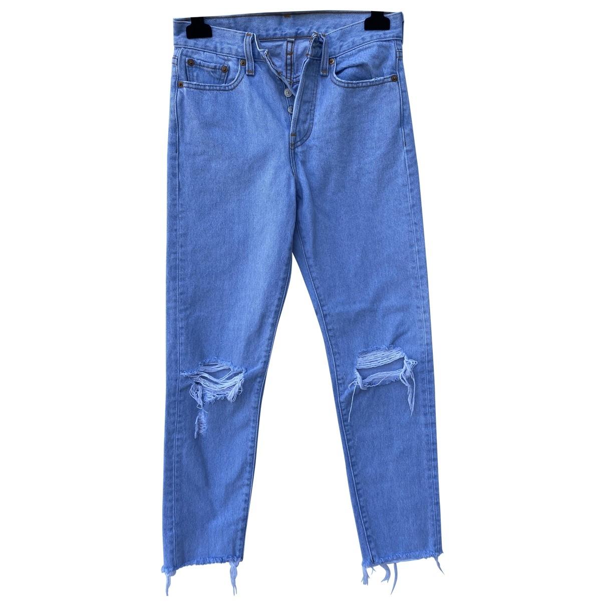 Levi's \N Blue Cotton Jeans for Women 25 US