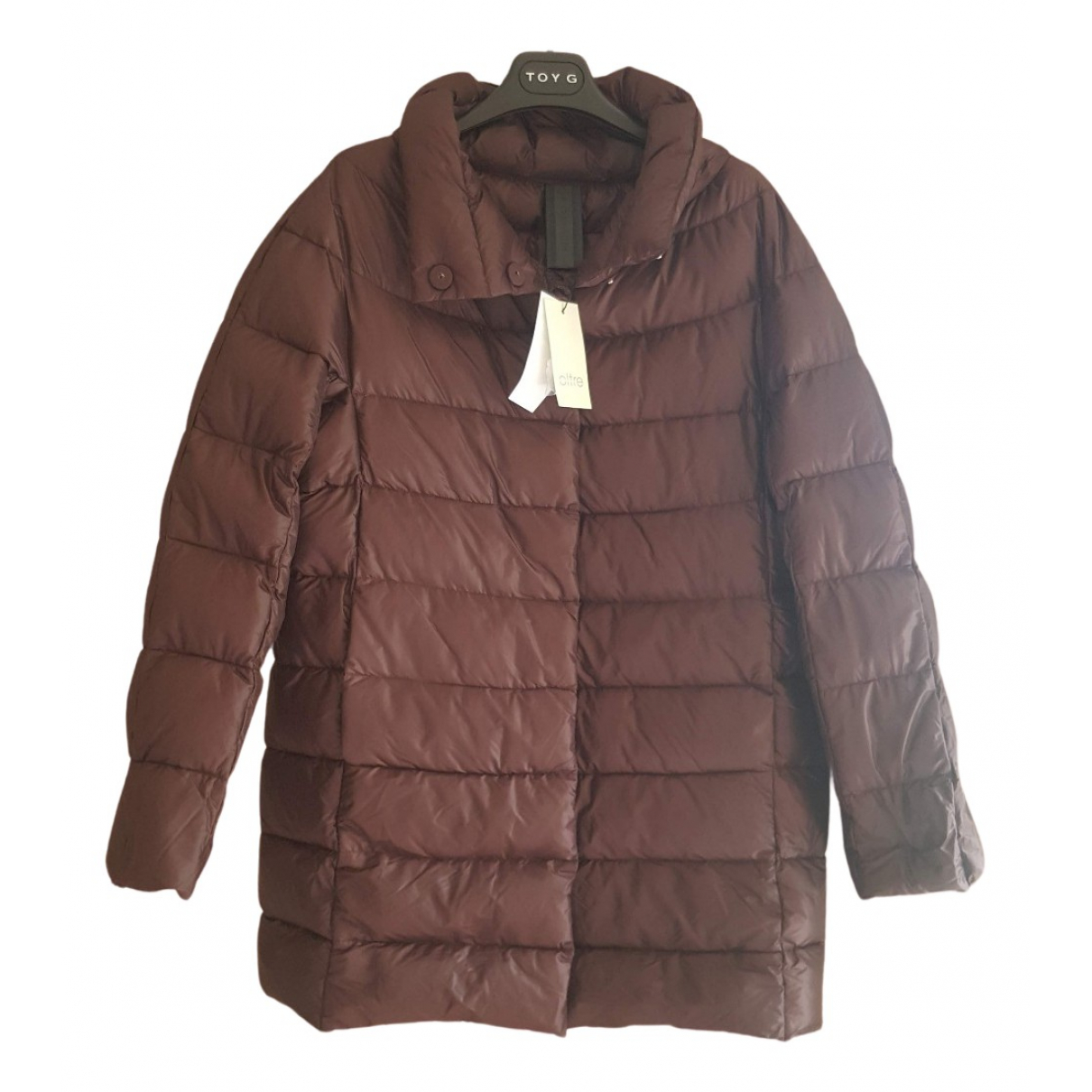 Non Signé / Unsigned Oversize Brown coat for Women 42 IT