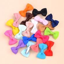 20pcs Toddler Girls Plain Bow Decor Hair Clip