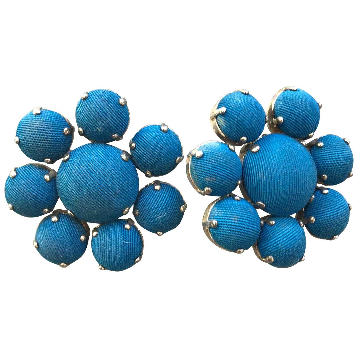Jean Paul Gaultier - Boucles doreilles   pour femme en soie - bleu