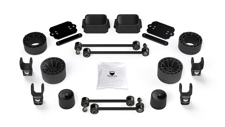 Jeep JL 2 Door Rubicon 2.5 Inch Performance Spacer Lift Kit w/ Shock Extensions 18-Pres Wrangler JL TeraFlex 1365315