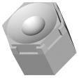 Polymer Optics 217/223, LED Optic & Holder Kit, 50 ° Wide Beam (200)