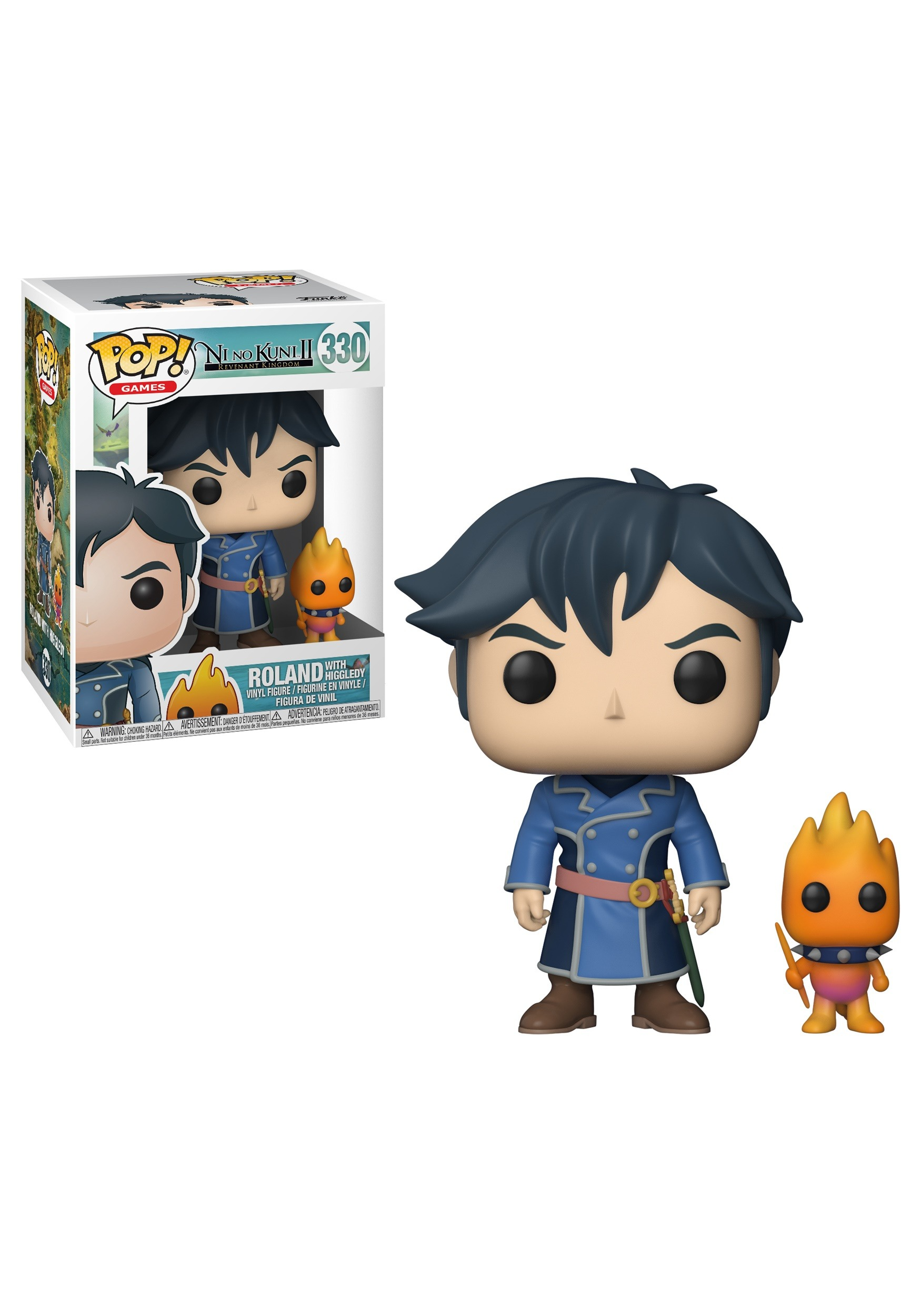 POP! Games & Buddy: Ni No Kuni - Roland w/ Higgledy Vinyl Figures