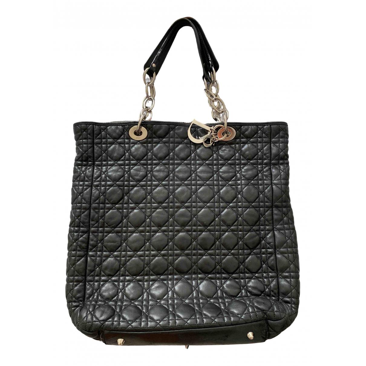 Dior Dior Panarea Black Leather handbag for Women \N