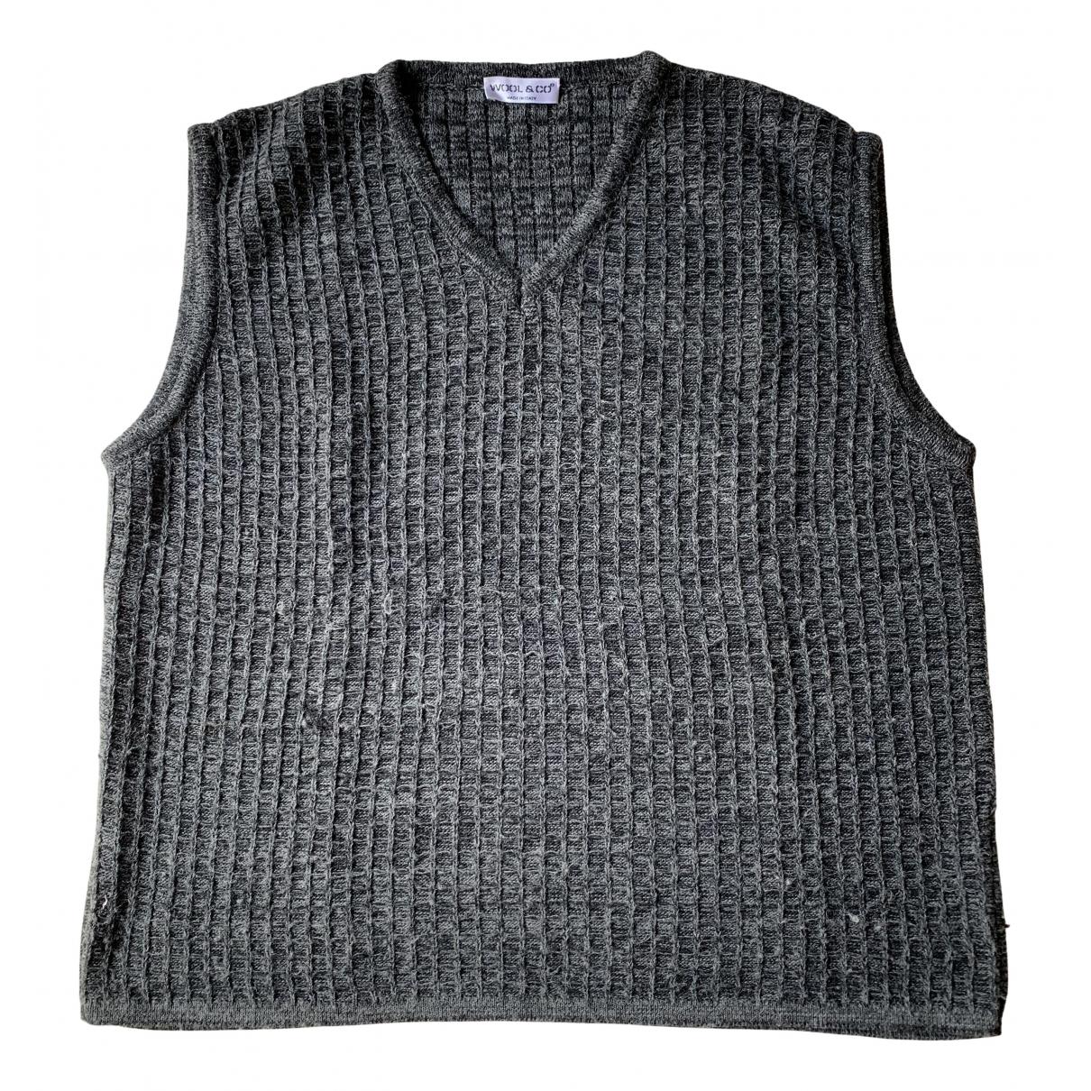 American Vintage \N Pullover.Westen.Sweatshirts  in  Grau Wolle