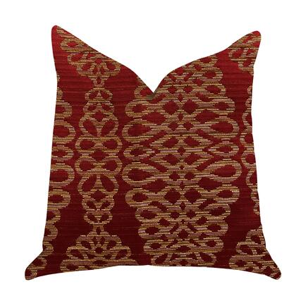 Pomodoro Collection PBRA1380-1616-DP Double sided  16 x 16 Plutus Sweet Henna Luxury Throw Pillow in Red and