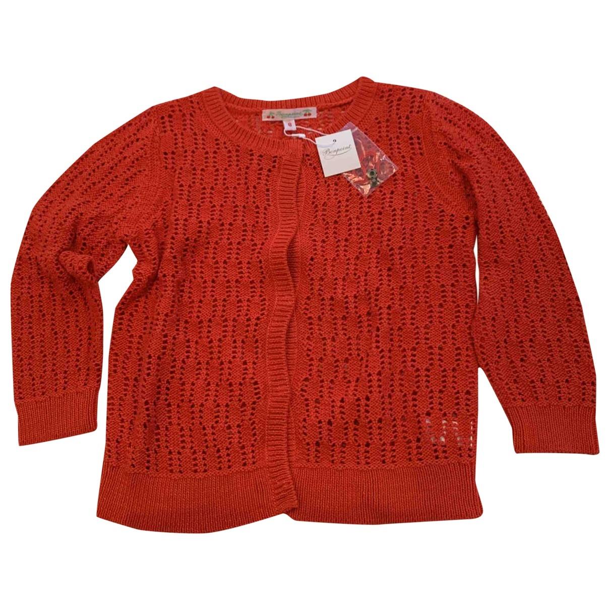 Bonpoint \N Pullover, StrickJacke in  Rot Baumwolle