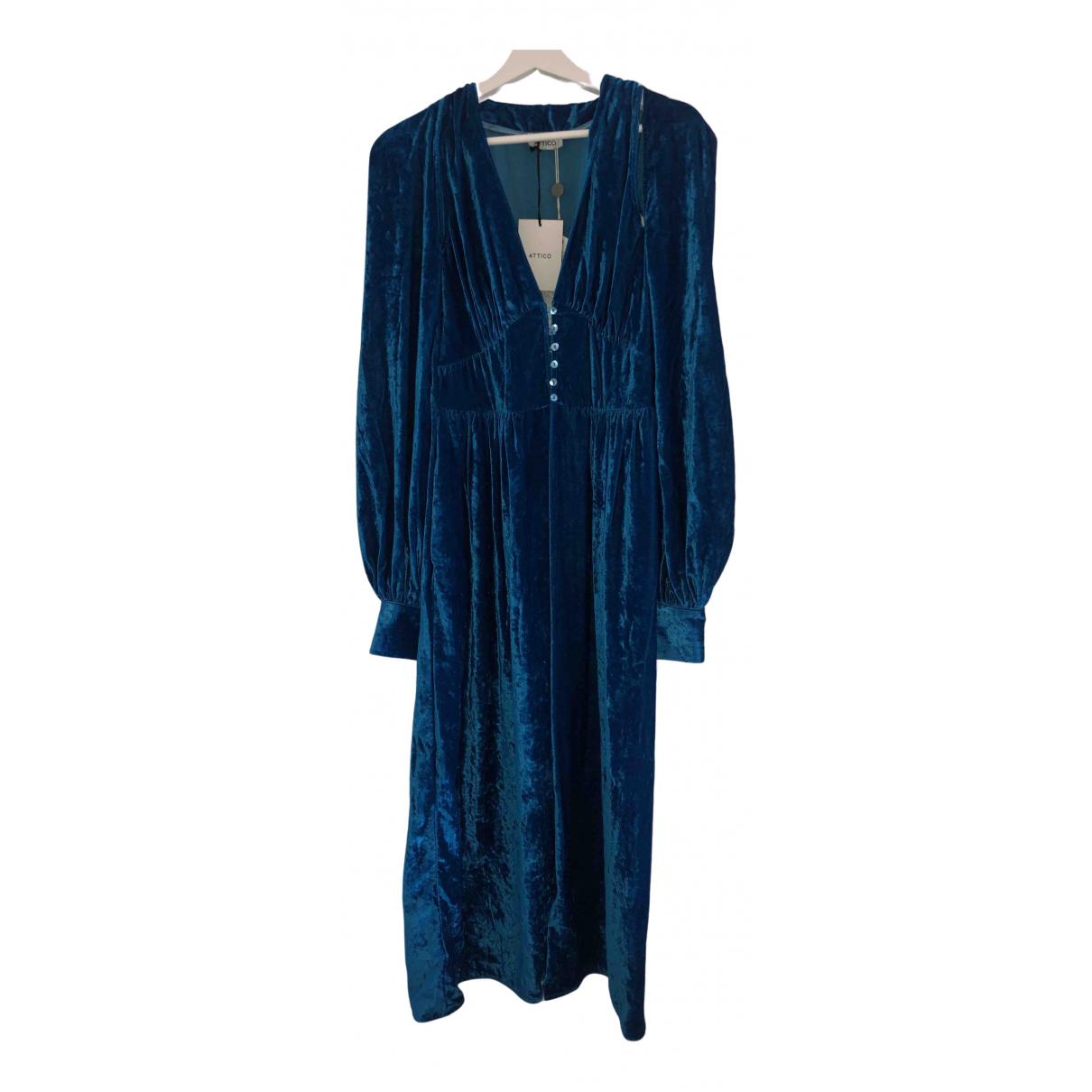 Attico - Robe   pour femme - bleu