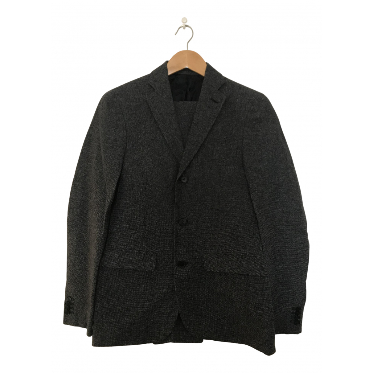 Acne Studios N Anthracite Linen Suits for Men 46 FR