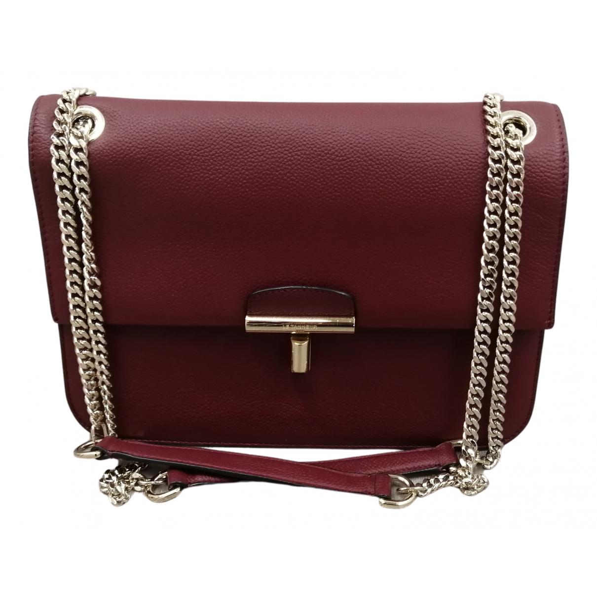 Le Tanneur N Burgundy Leather handbag for Women N