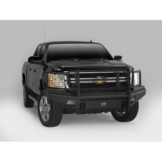 Fab Fours CH05-Q1360-1 03-07 Classic Chevrolet HD Front Elite Ranch Bumper w/Full Guard (2500 - 3500) w/Tow Hooks Bare