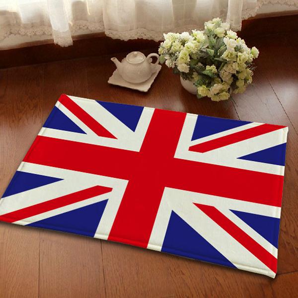 Flannel Anti-Slipping British Flag Union Jacks Area Rugs