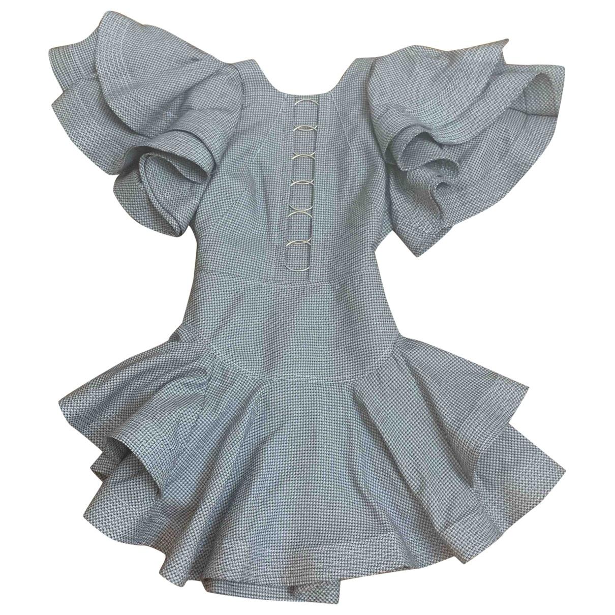Acler \N Kleid in  Grau Baumwolle