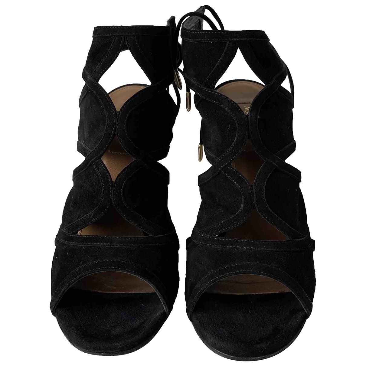 Aquazzura - Sandales Sexy Thing pour femme en suede - noir