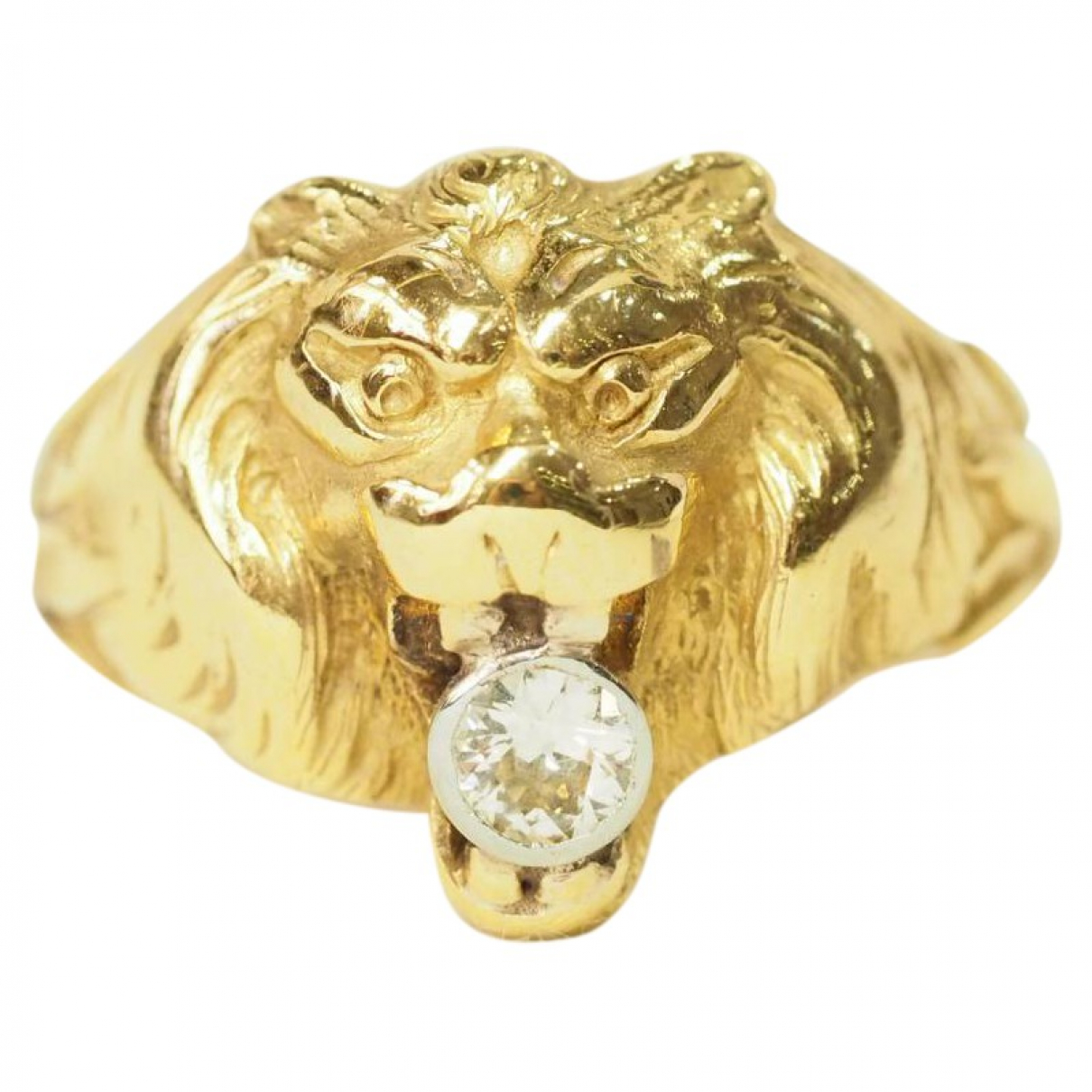 Non Signé / Unsigned Motifs Animaliers Yellow Yellow gold ring for Women 59 EU