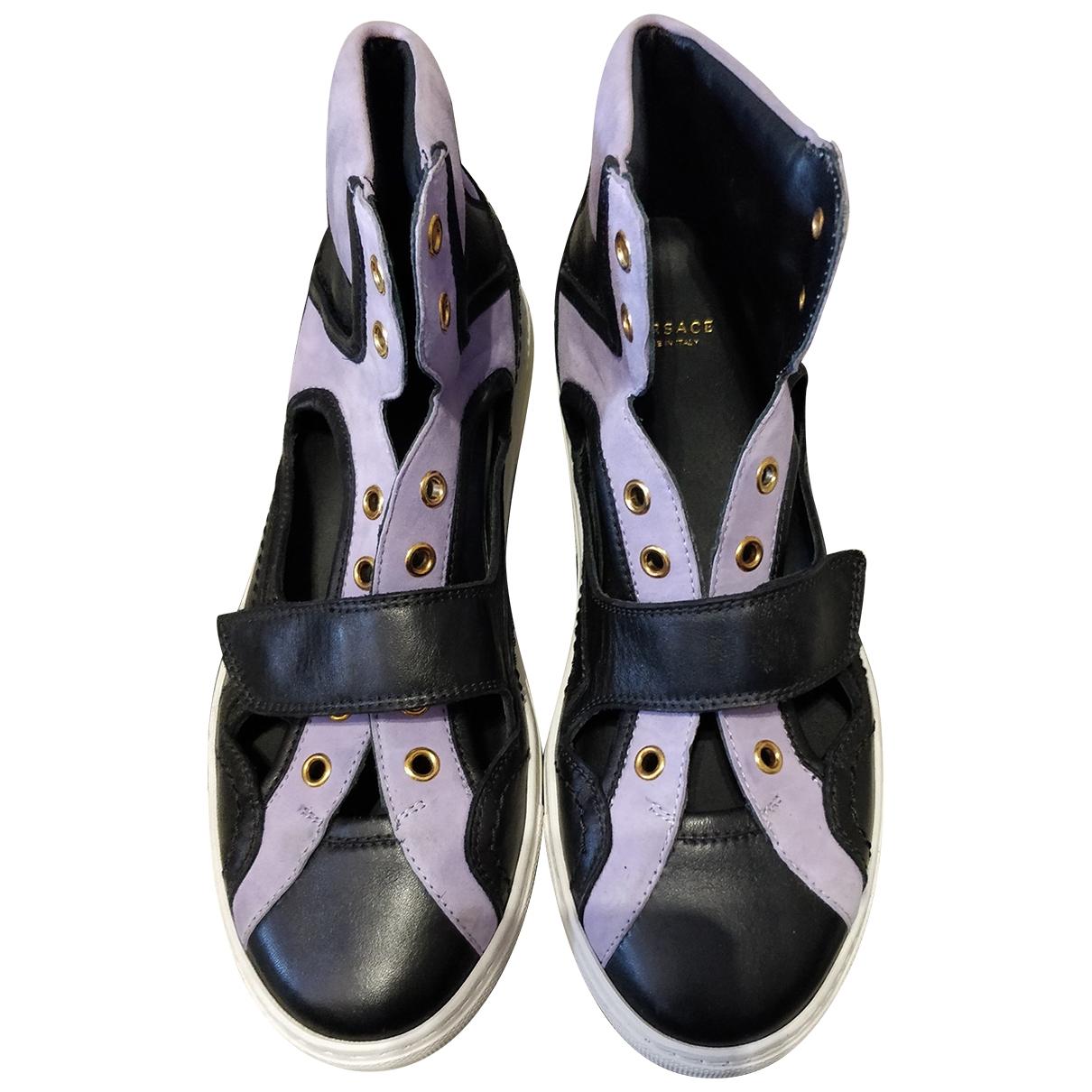 Versace \N Sneakers in  Lila Leder