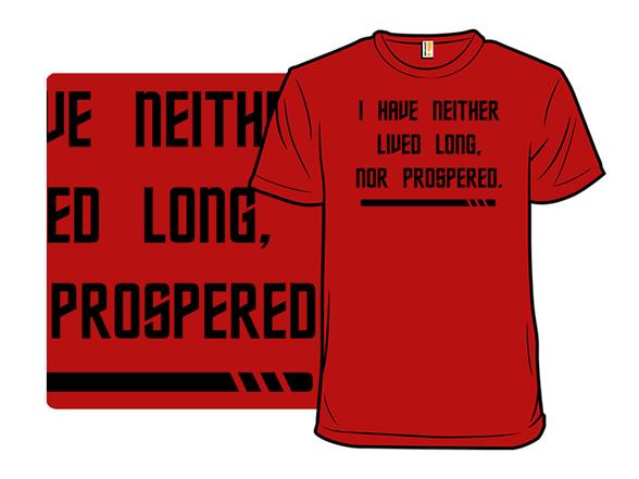Red Shirt Prosperity T Shirt