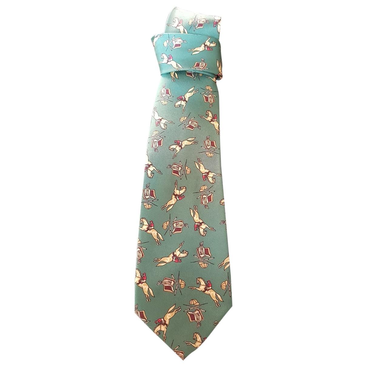 Burberry \N Green Silk Ties for Men \N