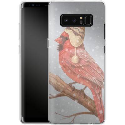 Samsung Galaxy Note 8 Silikon Handyhuelle - First Snow von Terry Fan