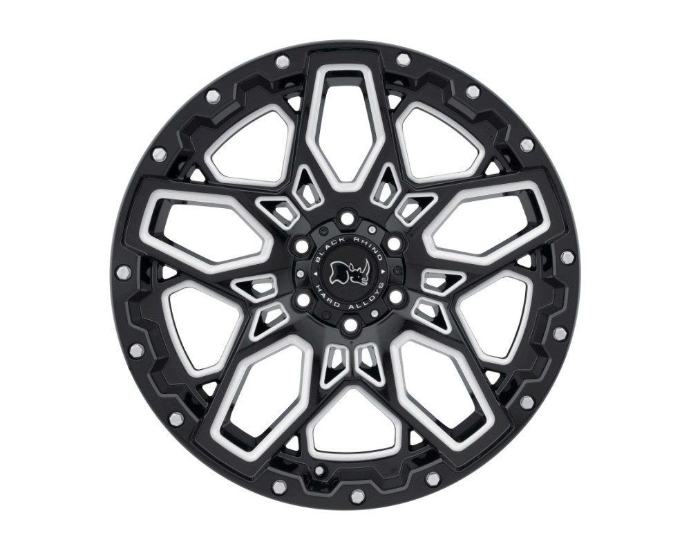 Black Rhino Shrapnel Gloss Black w/ Milled Spokes Wheel 17x9.5 6x139.70|6x5.5 -18mm CB112.1
