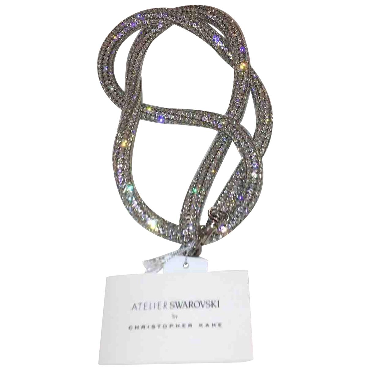 Swarovski Atelier \N Kette in  Silber Kristall
