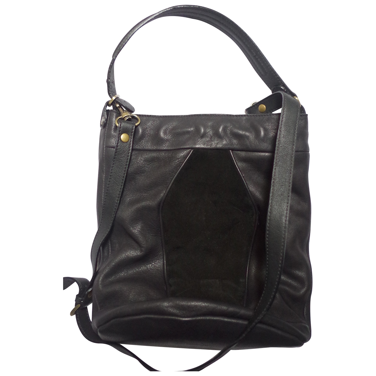 Mohekann \N Handtasche in  Schwarz Leder