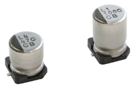 Nichicon 100μF Electrolytic Capacitor 16V dc, Surface Mount - UCB1C101MCL1GS (10)