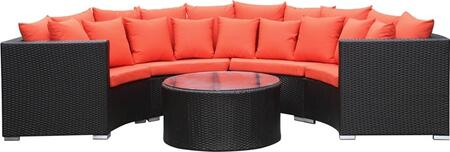 FMI10075-orange Roundano Outdoor Sofa Orange