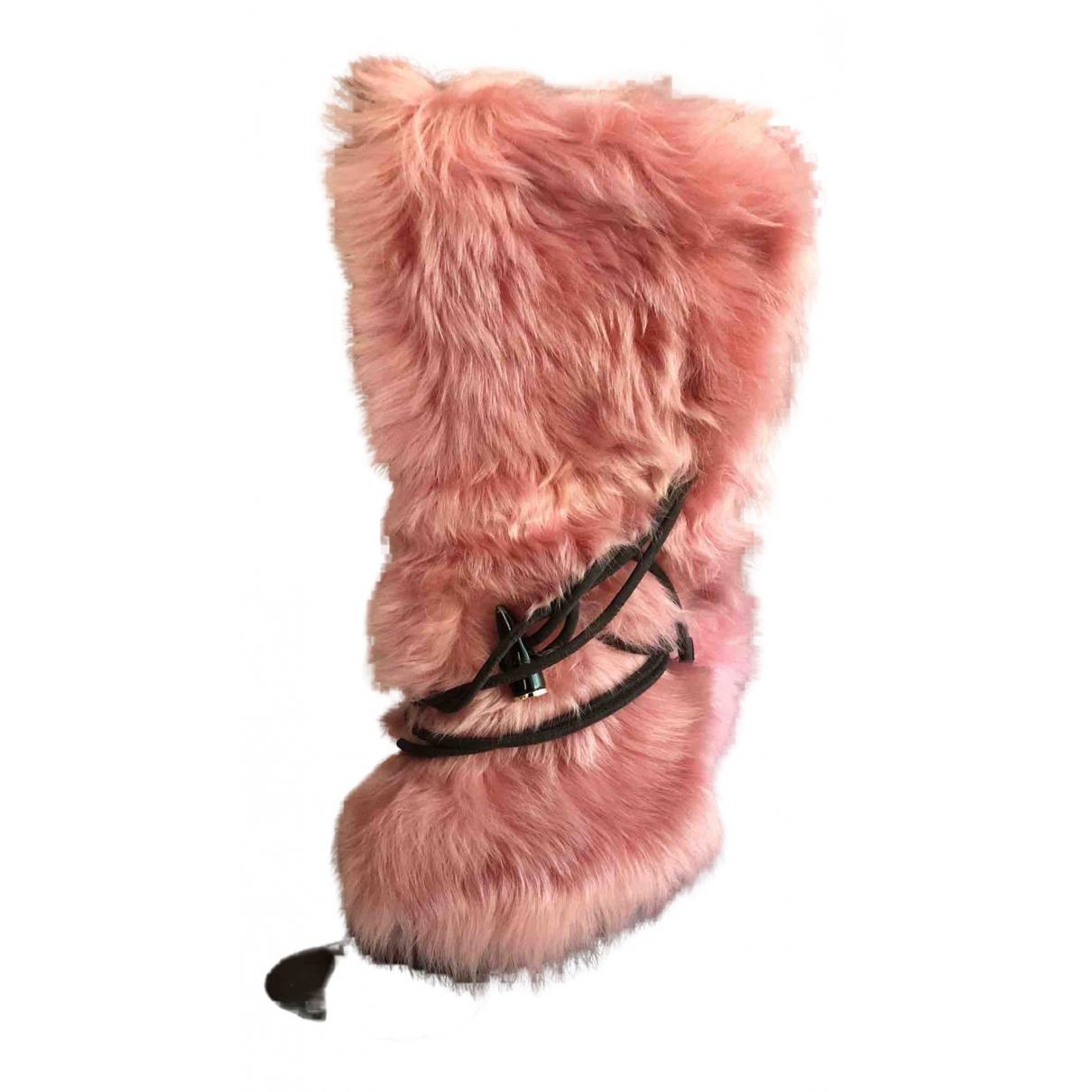 Giuseppe Zanotti \N Pink Faux fur Boots for Women 41 EU